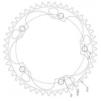 CHAINRING 53T-5 1/8