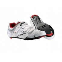 NORTHWAVE SONIC 3S ROAD WHITE RED SILVER