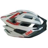 SMS S-124 HELMET - RED/BLACK/SILVER