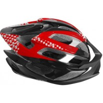 SMS S-124 HELMET - BLACK/RED/WHITE