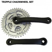 TRIPPLE CRANK SET - 170 X 24 / 34 / 42 - ALLOY