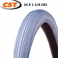 TYRE CST 24X1 3/8 GREY WHEELCHAIR - C82