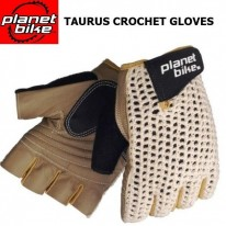 TAURUS SHORT FINGER CROCHET LEATHER GLOVE - PLANET