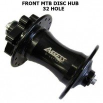FRONT ASSESS DISC HUB - 32 HOLE BLACK