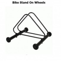 BIKE STAND WITH WHEELS - HOLDS 1 BIKE