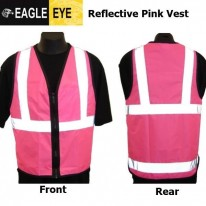 PINK ADULT REFLECTIVE SAFETY VESTS - EAGLE EYE - 4