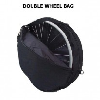 WHEELBAG - HOLDS 2 WHEELS - BLACK SHAKELAND BAG