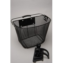 MAMMOTH FRONT HANDLEBAR BASKET WITH BRACKET CLAMP.