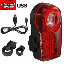 REAR TAIL LIGHT - SUPERFLASH USB 1/2 WATT LED - PL