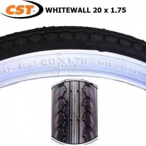 TYRE CST 20X1.75 WHITEWALL - C213