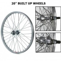 20 X 1.75 BUILT-UP WHEELS & 14MM AXLE WHEELS