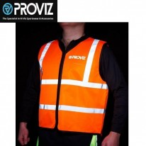 PROVIZ NIGHTRIDER ORANGE VEST WITH REFLECTIVE TRIA