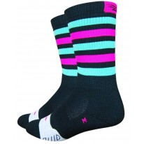 DEFEET THERMEATOR GREEN PINK STRIPE