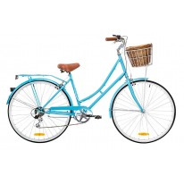 DUTCH VINTAGE LADIES 7-SPEED DELUXE BABY BLUE