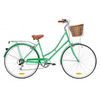 DUTCH VINTAGE LADIES 7-SPEED DELUXE MINT GREEN