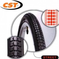 CST 24 X 1 3/8 - WHEELCHAIR GREY & BLACK TYRE C245