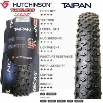 TAIPAN 27.5 X 2.25 WIRE BEADED TYRE - HUTCHINSON