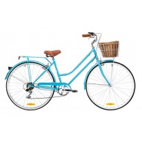 DUTCH LADIES BIKE 6 SPEED BABY BLUE