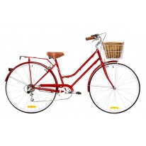 DUTCH LADIES BIKE 6 SPEED BURGUNDY