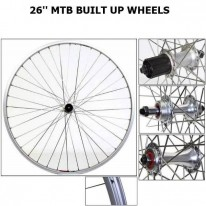 26 INCH MTB - BUILT UP WHEELS - ALL OPTIONS