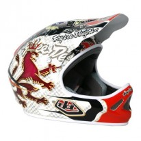 TROY LEE DESIGNS PEATY D2 HELMET - WHITE/BLACK