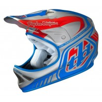 TROY LEE DESIGNS DELTA D2 HELMET - SILVER/BLUE