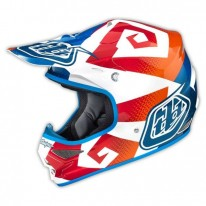 TROY LEE DESIGNS AIR AS HELMET VERSE BLUE ORANGE
