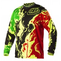 TROY LEE DESIGNS GP AIR JERSEY GALAXY BLK/YEL