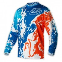 TROY LEE DESIGNS GP JERSEY GALAXY BLUE ORANGE