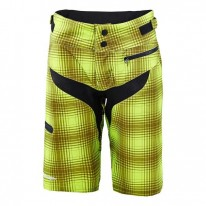 TROY LEE DESIGNS WMNS SKYLINE SHORT PLAID LIME