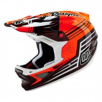 TROY LEE DESIGNS D3 AS CARBON HELMET BERZERK RED