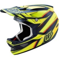 TROY LEE DESIGNS D3 AS CARBON HELMET REFLEX YELLOW