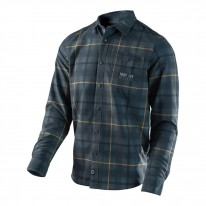 2017 TROY LEE DESIGNS GRIND FLAN PLAID GRAY
