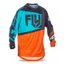 FLY JERSEYS F-16 ORANGE TEAL
