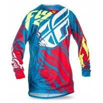FLY JERSEYS KINETIC RELAPSE TEAL RED HI-VIS
