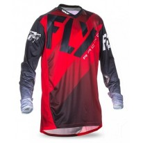 FLY JERSEYS LITE HYDROGEN RED BLACK WHITE