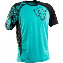 RACE FACE INDY JERSEY TURQUOISE/BLACK