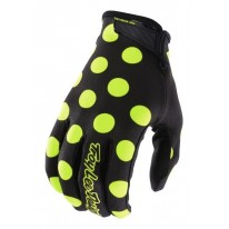 TROY LEE DESIGNS AIR GLOVE POLKADOT BK/FLO YELLOW