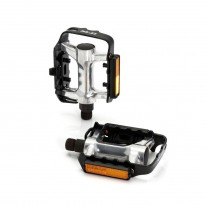 XLC MTB PEDAL ALL ALLOY SLV/BLK