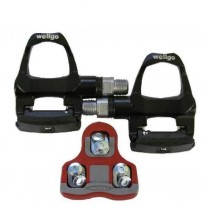 WELLGO ROAD PEDALS & CLEATS - BLACK RO96B CLIPLESS