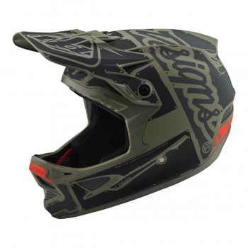 2018 TROY LEE DESIGNS D3 AS FIBERLITE HELMET