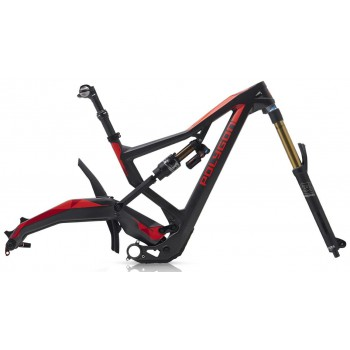 2018 POLYGON XQUARONE EX9 FRAME & FORK SET RED