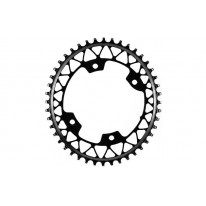 ABSOLUTEBLACK GRAVEL 1X OVAL 4 BOLT 110 BCD CHAIN