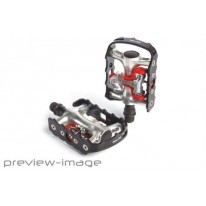 XLC DUAL SPD & CAGE PEDAL RED/BLACK