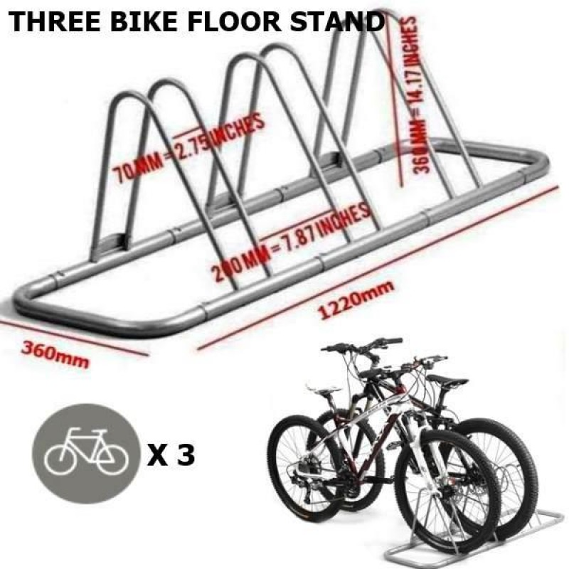 3 OR 5 BIKE ALLOY FLOOR BIKE DISPLAY / STORAGE STA