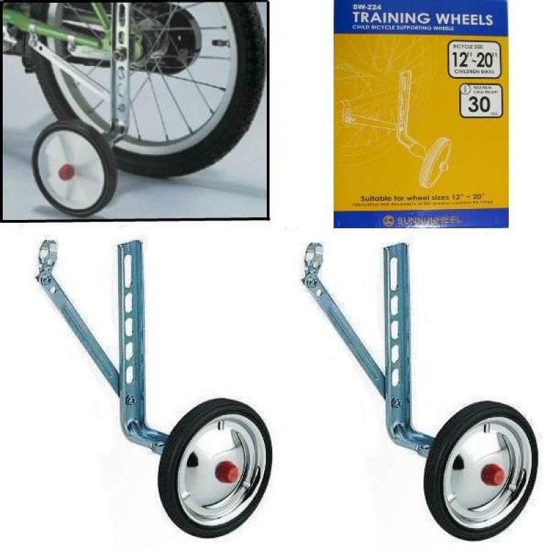 Kids Bicycle Bike Training Wheels Parts Stabilisers Safe For Cycling Balance Q