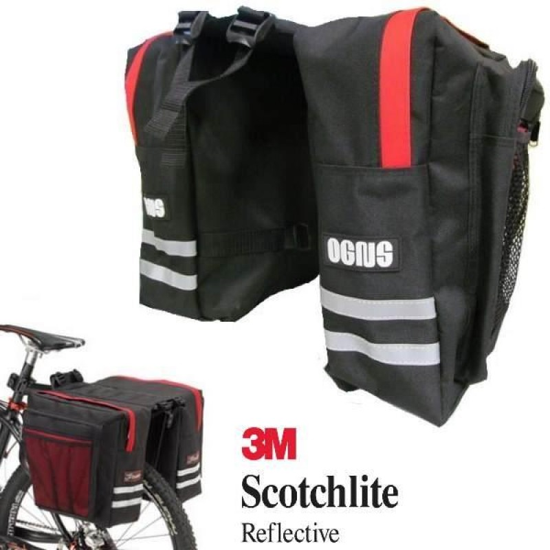 Bag - Carrier Pannier Bags - Black/Red - Shakeland