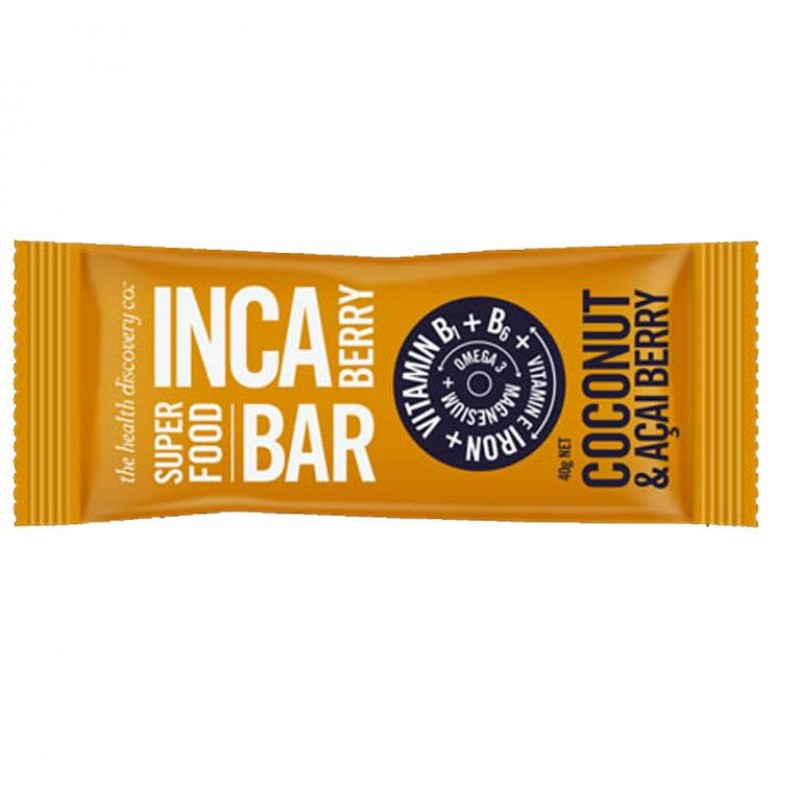 The Health Discovery Co Inca Berry Superfood Chia Bars (Box of 20)