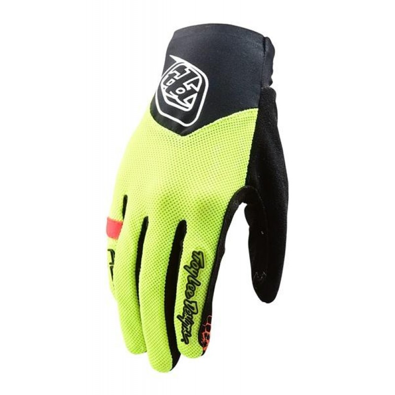 Troy Lee Designs Womens Ace Glove Flo Yellow
