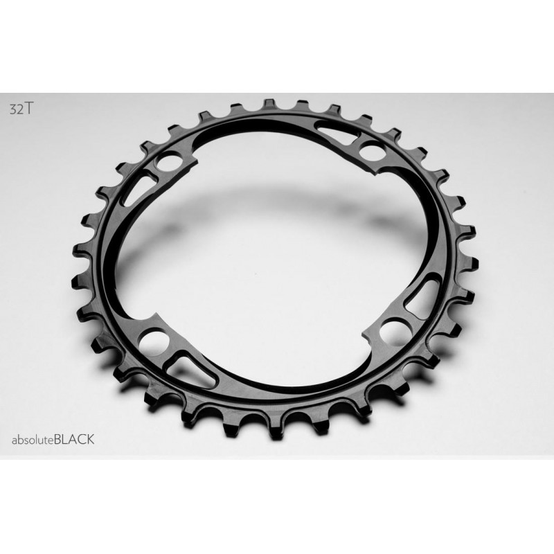 Absolute Black Four-Bolt 104 BCD  Chainring Black
